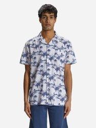 Koszula męska NORTH SAILS PRINTED POPLIN SHIRT 4022 C001